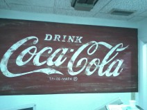 Coca-Cola themed dentist's cubicle
