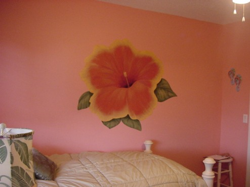 Hibiscus in a girl's room