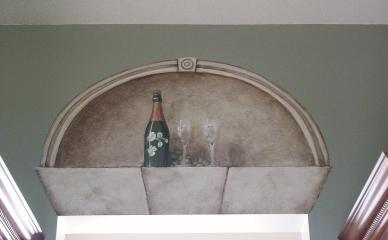 Faux alcove above doorway