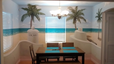 Full-room beach mural