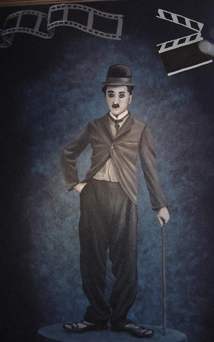 mancave-theater-mural-charlie-chaplin