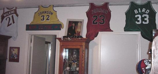 Sports jerseys mural