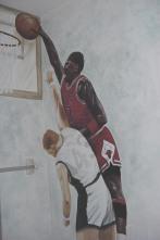 Michael Jordan mural