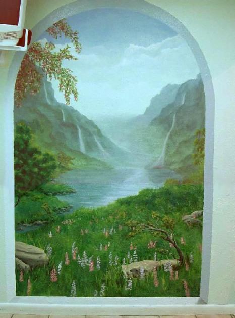 waterfall-mural
