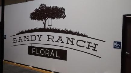 Large logo at this floral distributor in Rancho Penasquitos - https://www.bandyranchfloral.com/