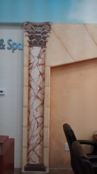 Decorative column at a Spa