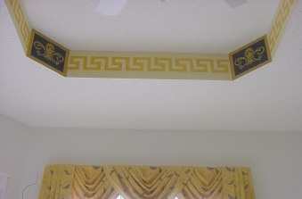 Greek design tray ceiling accent