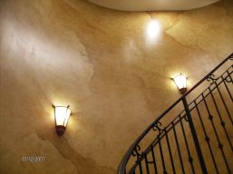Tuscan-style dramatic staircase