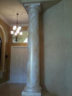 Marbled column