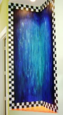A corner niche turned into an artistic piece
