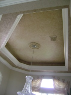 Double tray ceiling faux finishes