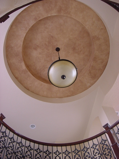Spiral staircase ceiling faux finish
