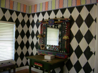 San-Diego-harlequin-mackensie-childs-room-decor-walls-mural-artist-Art-by-Beata
