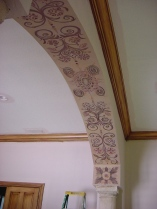 Artful design accents this archway