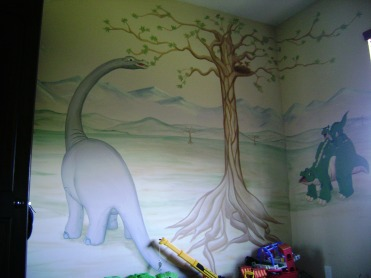 Baby dinosaurs kid's room
