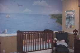 Baby boy ship room