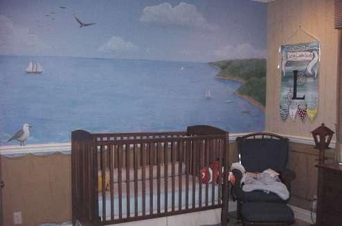 Baby boy ship room