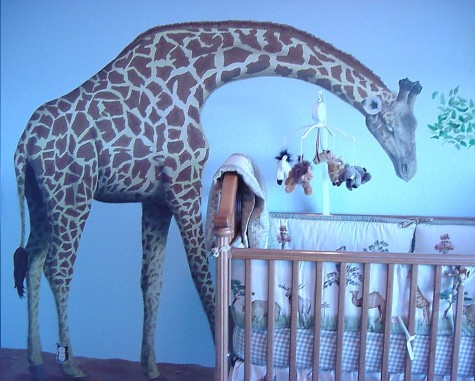 Giraffe in a baby's room