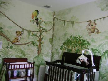 Jungle theme nursery