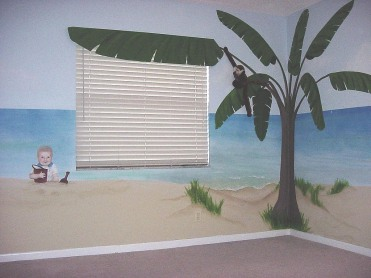 Kids' room beach mural