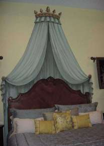 Faux bed canopy