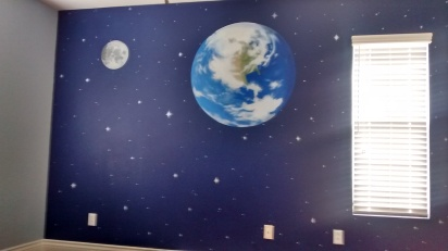 Space theme for a boy's room