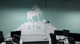 Business logo at on office in San Diego - https://stndigital.com/