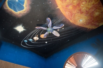 Our solar system on a ceiling
