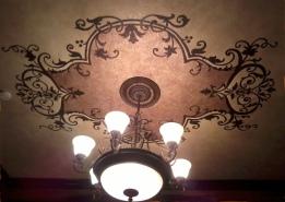Elegant ceiling design and faux finish