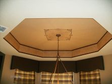 Breakfast nook ceiling faux finish