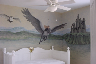 Harry Potter kid's room mural