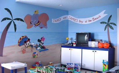 Disney theme playroom mural