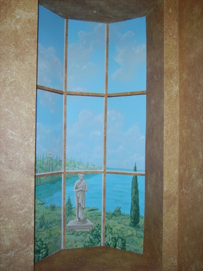 Trompe l'oeil window in Italy