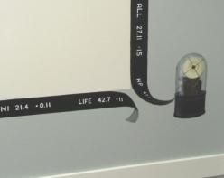 Ticker tape at a broker's office