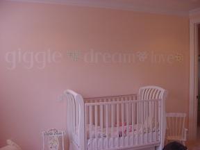 Pink girl's nursery