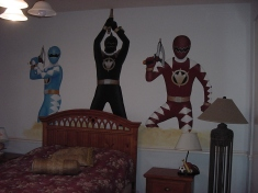 Power Rangers boy's room mural