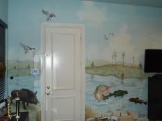 Hunting and fishing mural
