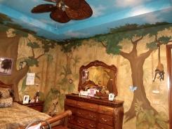 Teenager's jungle room