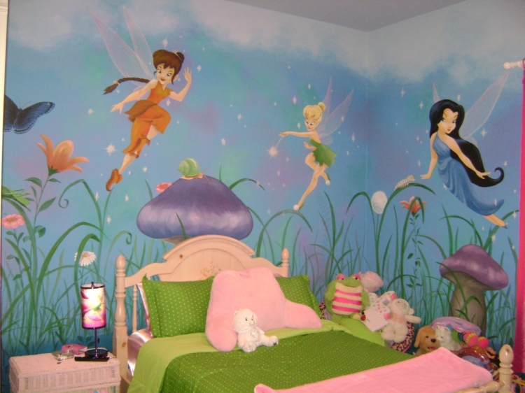 San-Diego-princess-fairy-girls-room-mural-artist-Art-by-Beata