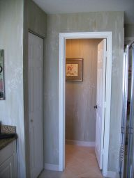 Subtle antiqued faux finish to give this new home a lived-in feel