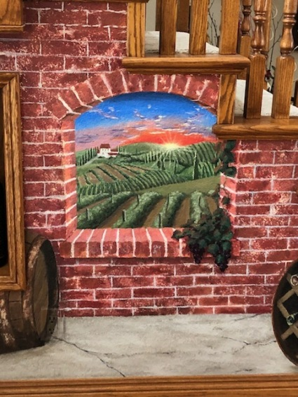 San-Diego-mural-artist-Tuscan-vineyard-staircase-entry-art-by-Beata