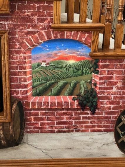 San-Diego-mural-artist-Tuscan-vineyard-staircase-entry-art-by-Beata