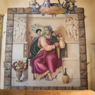 San-Diego-muralist-fine-art-dining-room-mural-sistine-chapel-art-by-Beata