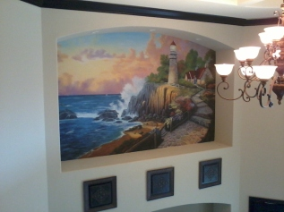 San-Diego-muralist-lighthouse-ocean-fine-art-mural-by-Beata