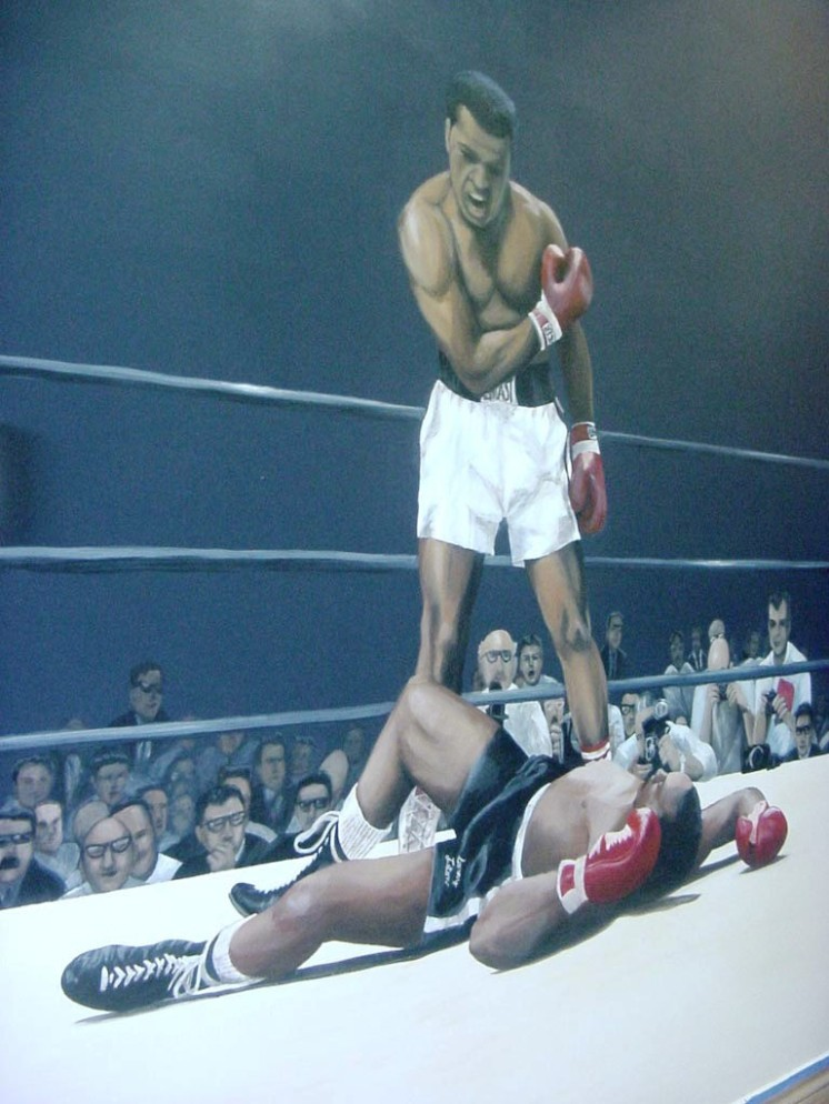 San-Diego-muralist-sports-boxing-mural-muhammad-ali-art-by-Beata