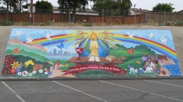 Parking lot mural