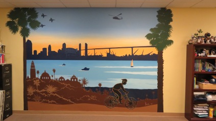 San-Diego-mural-artist-skyline-downtown-Balboa-park-fighter-jets-Coronado-bridge-Art-by-Beata
