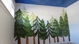 San-Diego-muralist-trees-forest-boys-kids-room-nursery-night-sky-Art-by-Beata