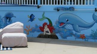 Poolside mural