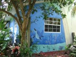 Backyard sea mural